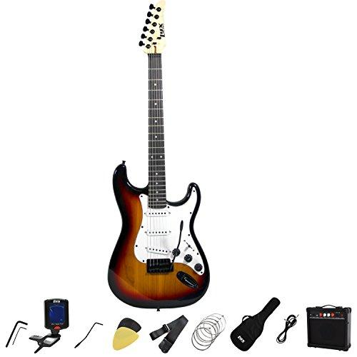 full size electric guitar beginner starter kit pack. Black Bedroom Furniture Sets. Home Design Ideas